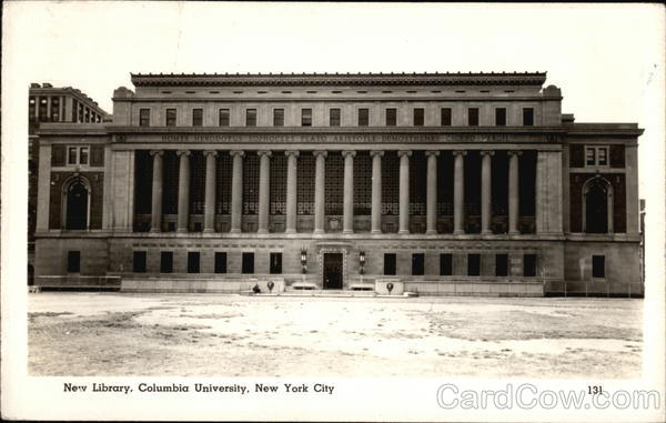 New Library, Columbia University New York City