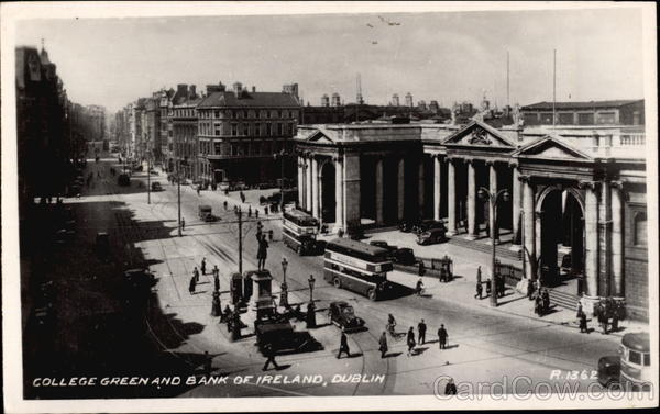 College Green and Bank of Ireland Dublin