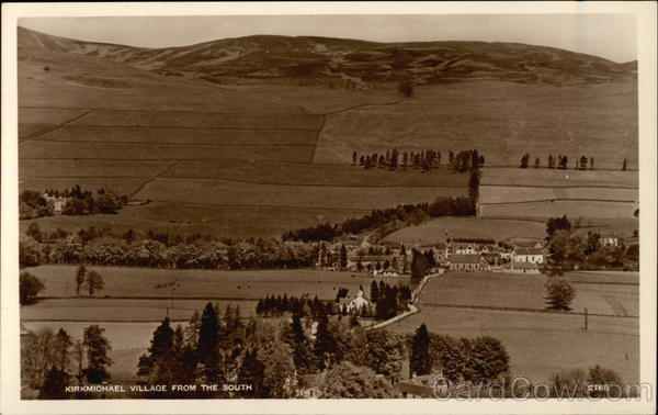 Kirkmichael Village from the South Scotland