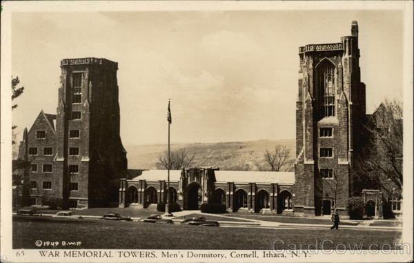 Cornell University - War Memorial Towers and Men's Dormitory Ithaca New York
