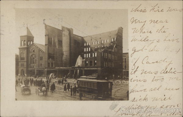 Ruins of Masonic Temple - after Fire 1906 Dover New Hampshire