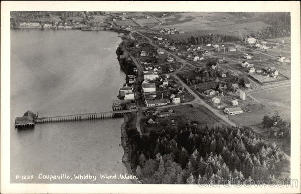 Aerial View of Coupeville, Whidbey Island Washington