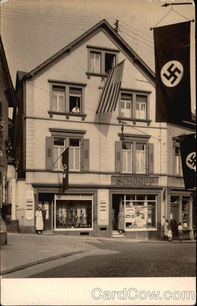 Nazi Flags Flying In Front of Shop Bad Deirkheim Germany