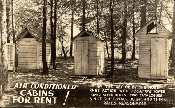Air Conditioned Cabins for Rent! Comic, Funny