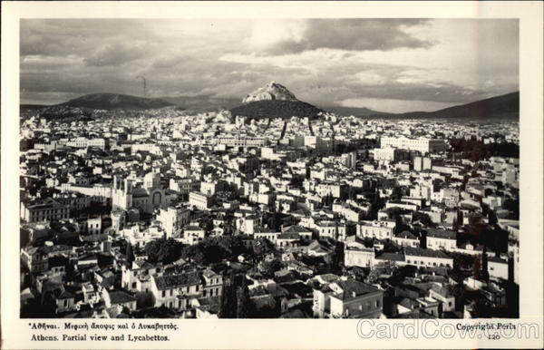 View of City and Lycabettos Athens Greece Greece, Turkey, Balkan States