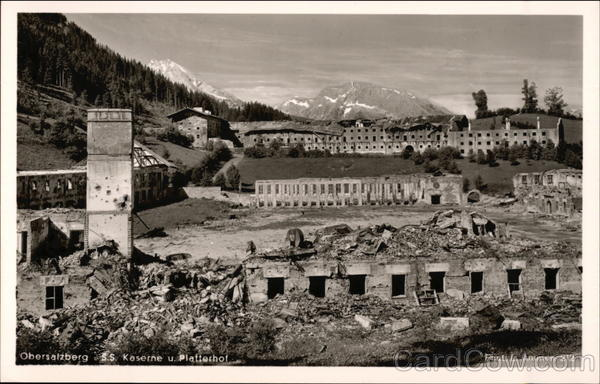 SS Barracks after Bombing 1945 Obersalzberg Germany