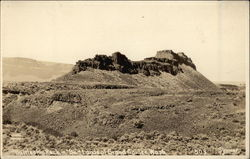 Battleship Rock in Badlands of Grand Coulee