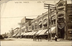 West Side Main St Postcard