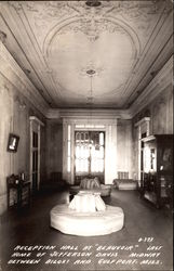 "Reception Hall at ""Beauvoir"""