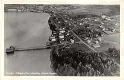 Aerial View of Coupeville, Whidbey Island