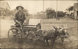 Legless John Rose and His Goat Team