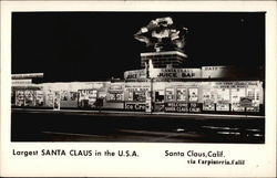 Largest Santa Claus in the U.S.A Postcard
