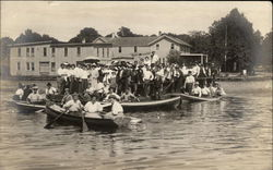 Group of People in rowboats