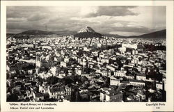 View of City and Lycabettos Postcard