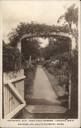 Entrance, Old-Fashioned Garden - Longfellow's Wayside Inn