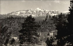 Pagosa Springs High School, Pagosa Peak in Background