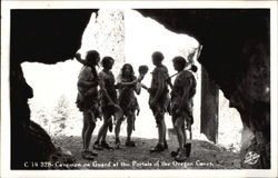 Cavemen on Guard at the Portals of the Oregon Caves