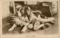 Jackie Coogan with Dog