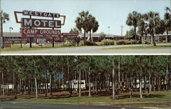 Westgate Motel and Campground Perry Florida C.L. Marsh