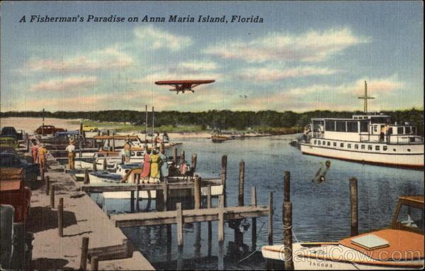 Yacht Basin and Airport at Holmes Beach Anna Maria Island Florida
