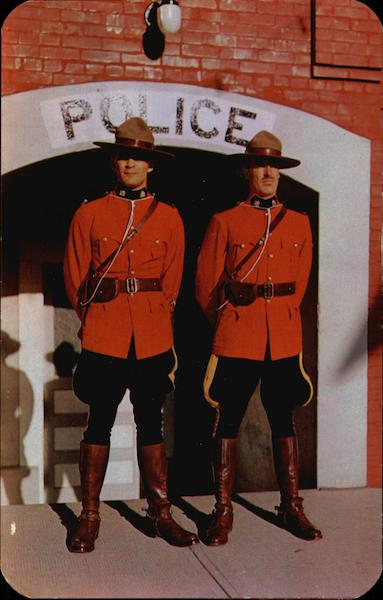 R.C.M. Police Constables at Police Station Cranbrook BC Canada
