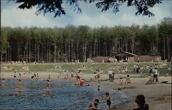 View of the Bathing Beach Ricketts Glen State Park Pennsylvania