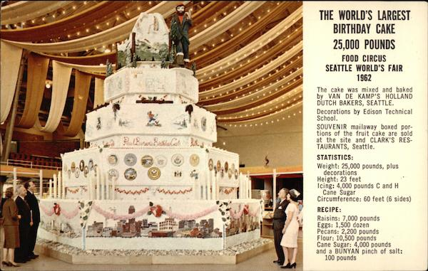 The Worlds Largest Birthday Cake Seattle Washington