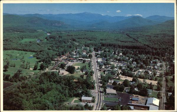 Aerial view of North Conway New Hampshire Dick Smith