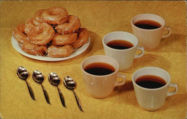 Cups of Coffee and Donuts Advertising