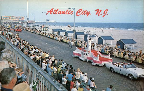 Boardwalk View During Pageant Parade Atlantic City New Jersey