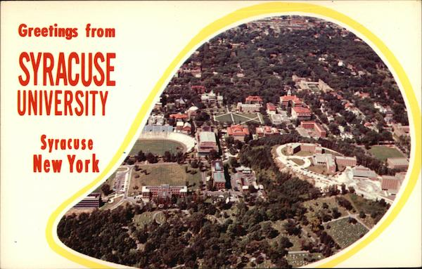 Aerial View of the Syracuse University Campus New York
