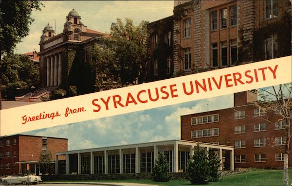 Greetings from Syracuse University New York