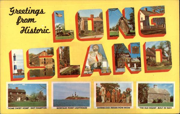 Greetings from Long Island New York Large Letter