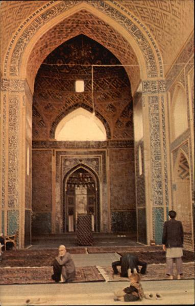Altar of Jame Mosque Yazd Iran Middle East