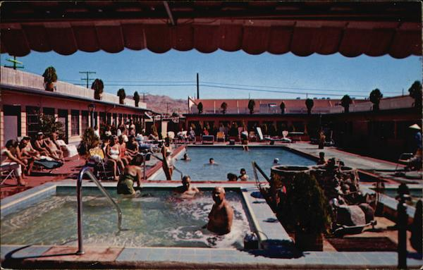 Pool Area, Tropical Palms Resort Motel Desert Hot Springs California
