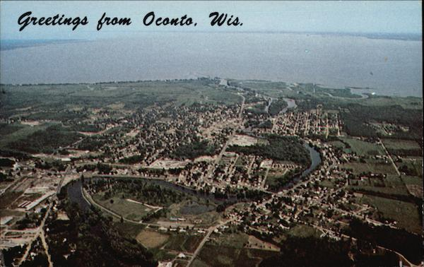Aerial View of Town Oconto Wisconsin