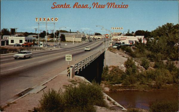 Pecos River Crossing and Town in Background Santa Rosa New Mexico