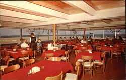Diners At Jetties Restaurant Postcard