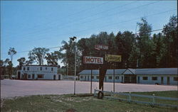 Lor-Lee Motel & Texaco Service Station Postcard
