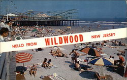 Hello from Wildwood, New Jersey Postcard