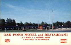 Oak Pond Motel and Restaurant Postcard