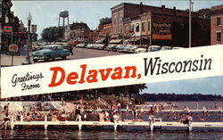 Downtown and Delavan Lake Beach