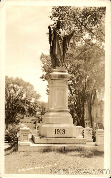 Statue of Jesus Dated 1919 L'Assomption Canada Quebec