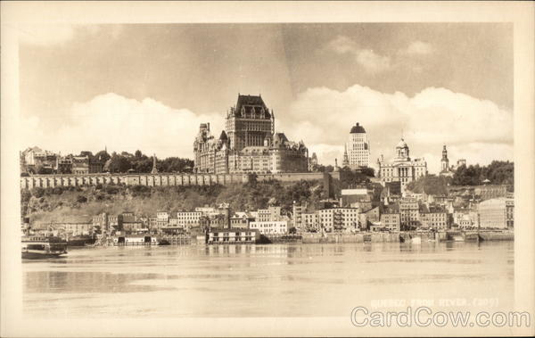 View of City From the River Quebec