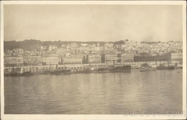View of City from Water Algiers Algeria Africa