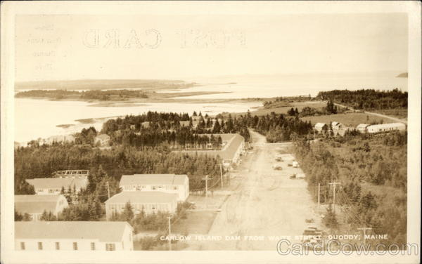 Carlow Island Dam from Waite Street Quoddy Maine