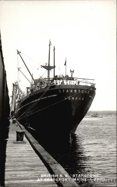 British S.S. Starstone at Searsport Maine Steamers