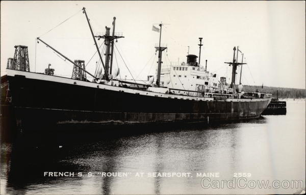 French S.S. Rouen Searsport Maine