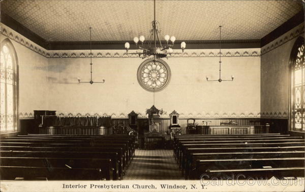 Presbyterian Church - Interior Windsor New York