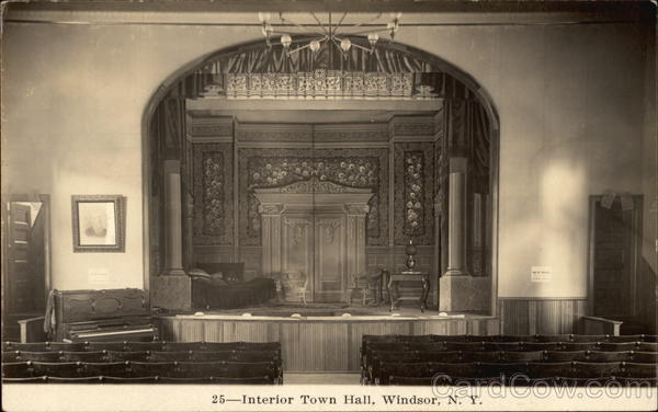 Interior Town Hall Windsor New York